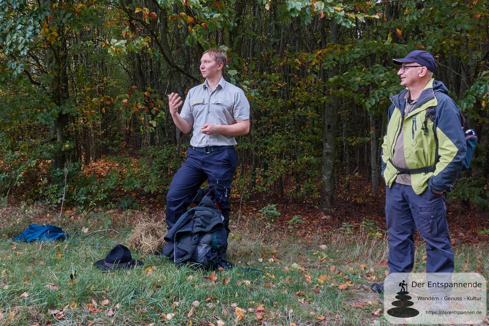 Patric Heintz, Ranger, und Guido Lotz vom Nationalparkamt Hunsrück-Hochwald