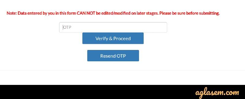 AIMA MAT OTP verification