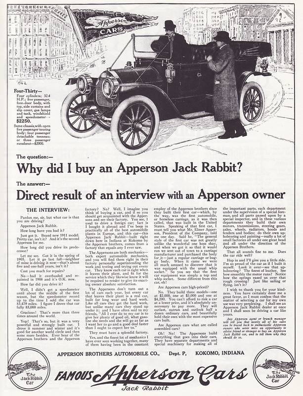 1911 Apperson Four Thirty