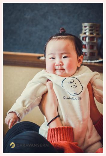 赤ちゃん 女の子 長袖ロンパース 冬