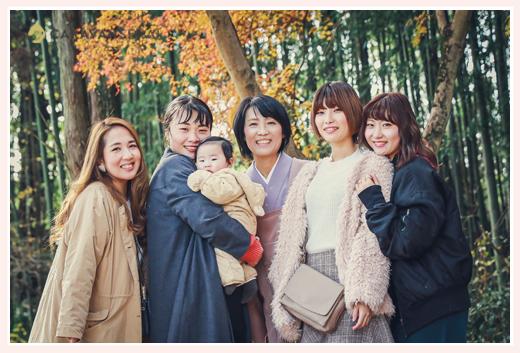 家族・親族の集合写真 女性チーム