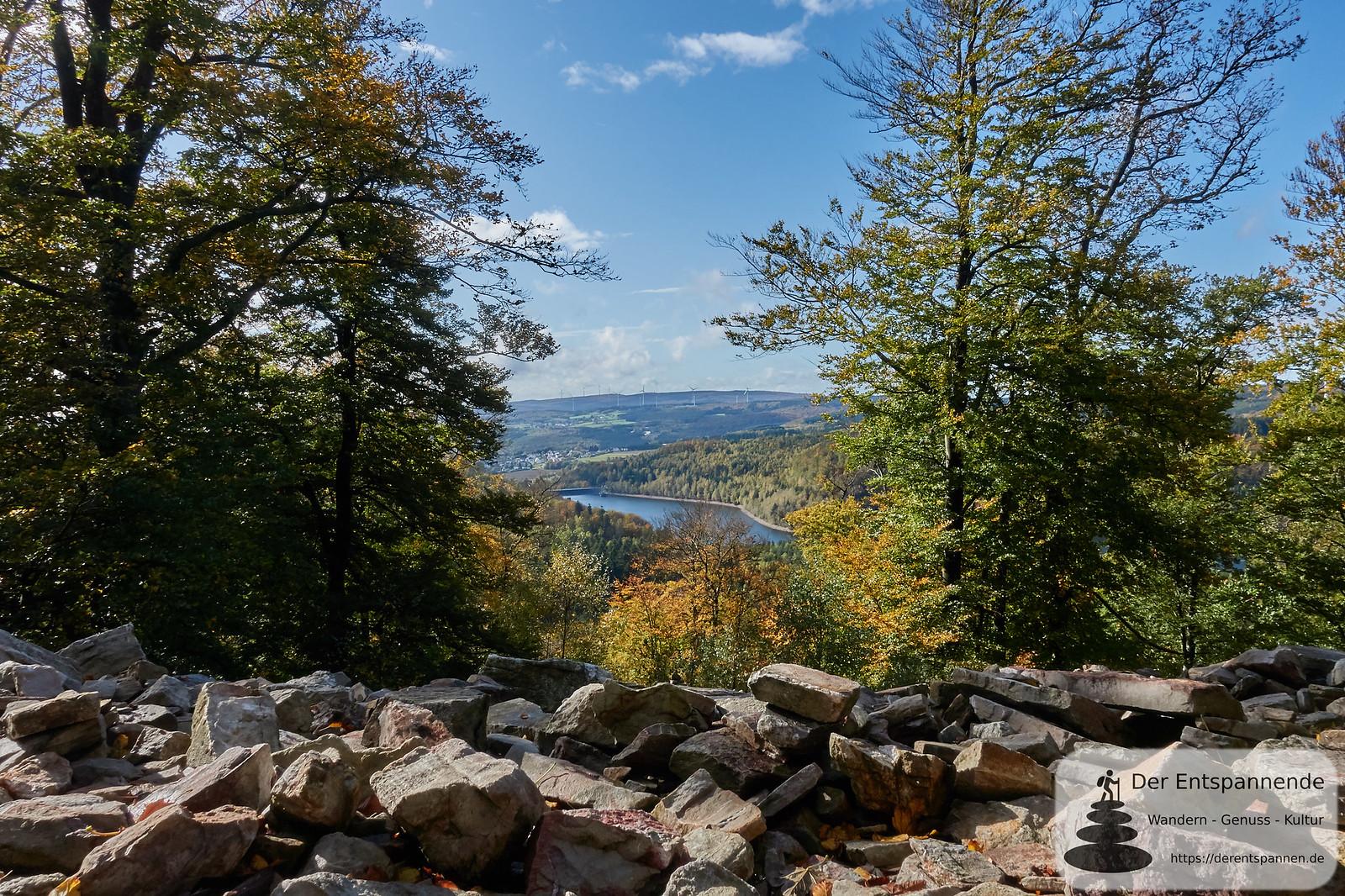Ausblick zur Talsperre von Nonnweiler