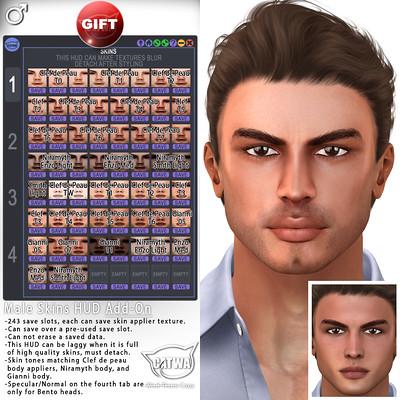 CATWA Male Skins HUD