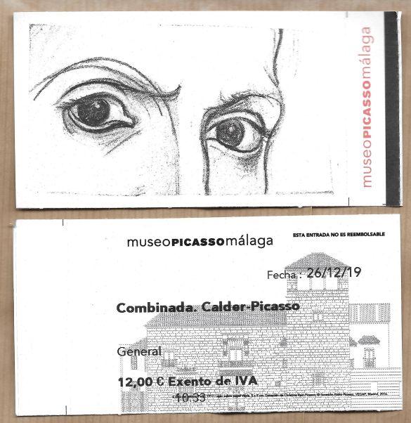 MalagaMuseoPicassoCalderPicassoToegangskaart