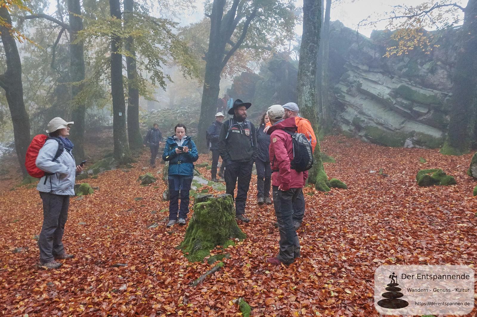 Ranger Oliver Groß auf dem Saar-Hunsrück-Steig, Etappe 12
