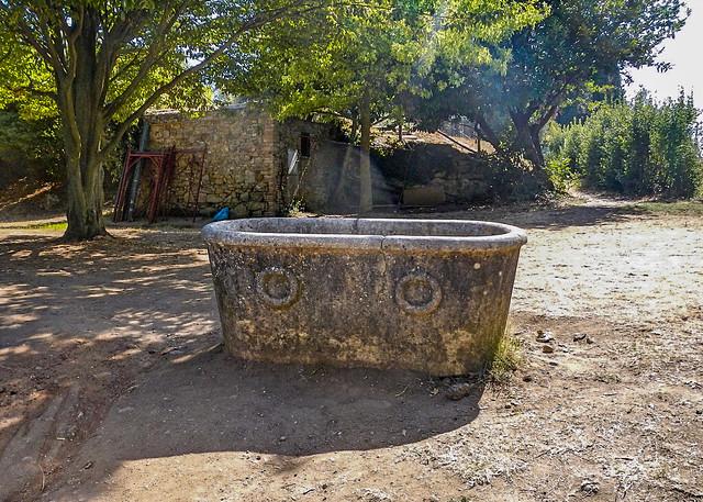 Etruscan stone bathtub