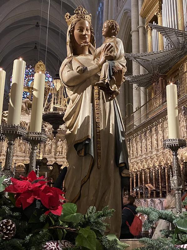 Virgen Blanca, coro de la catedral de Toledo