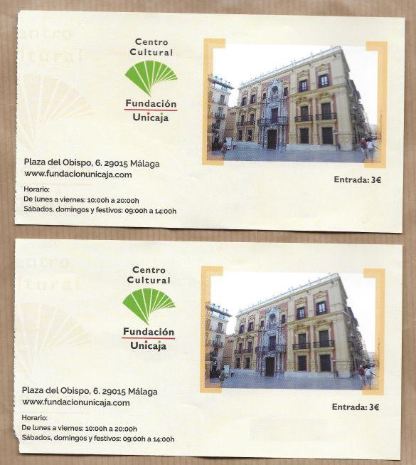 MalagaBisschopspaleisSorollaToegangskaart