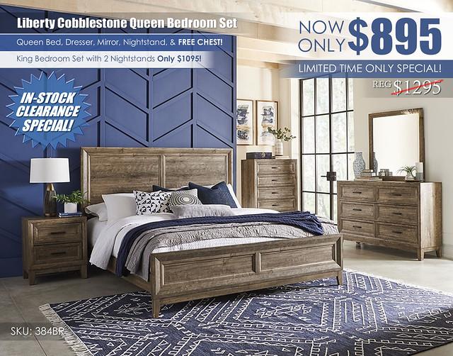 Liberty Cobblestone Queen Bedroom Set_InStock_384BR