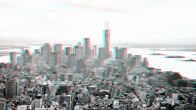 New York view from Empire State 3D