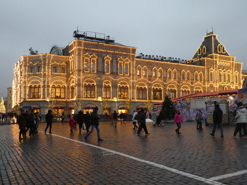 Red Square Christmas Market with the GUM Department Store