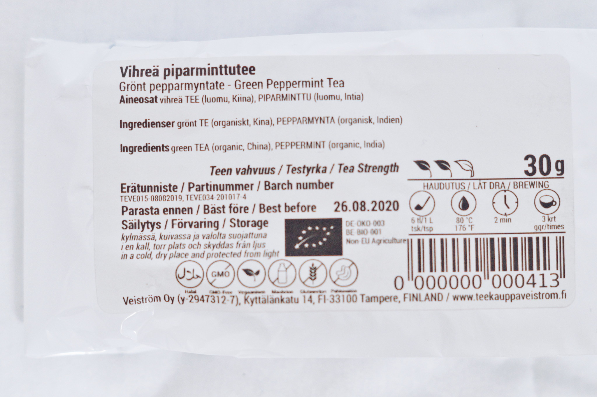 veiström-piparminttutee