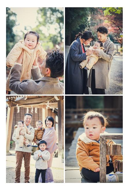 家族・親族の集合写真 お孫さんと一緒に 神社