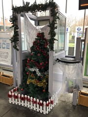 Chelsfield station Christmas tree