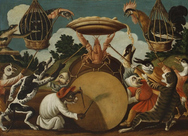 The Master of the Fertility of the Egg - Animal and Stylized Figure Scene 9, 17th Century
