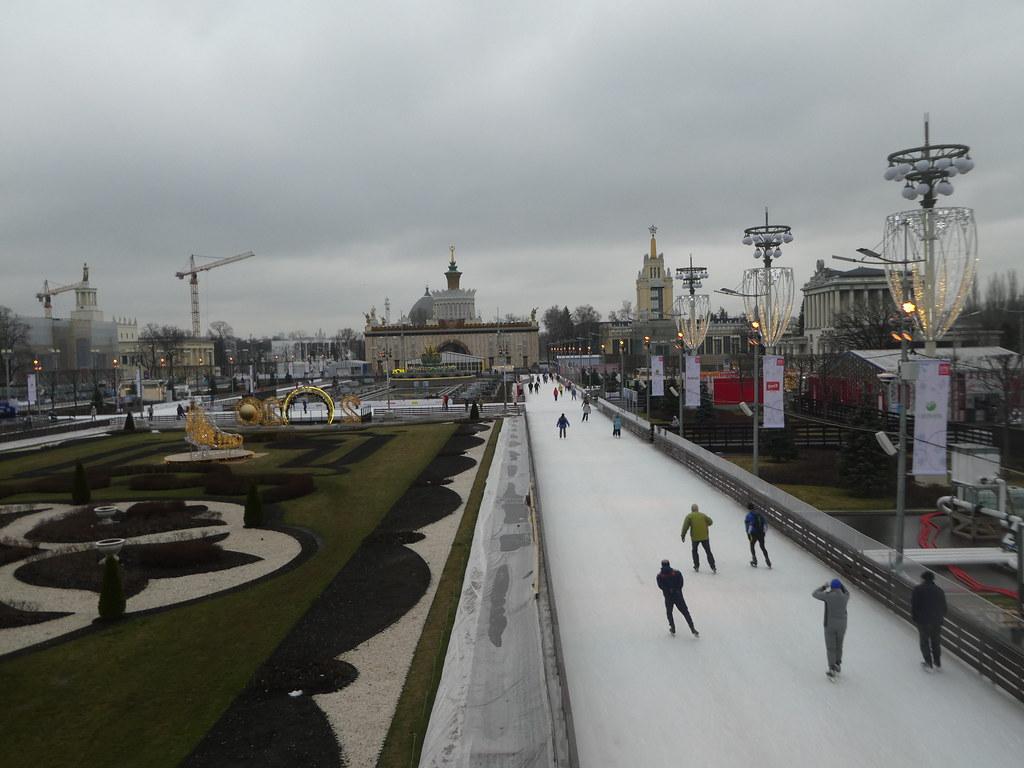 Skating at the VDNKh Park, Moscow