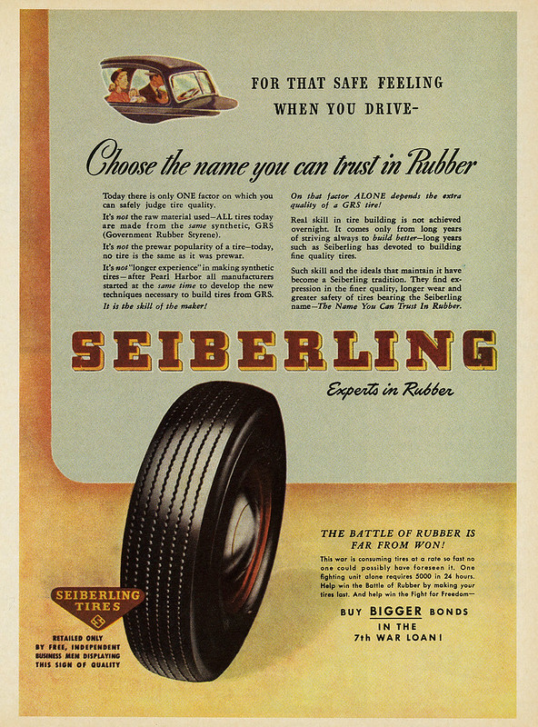Seiberling Tires 1945