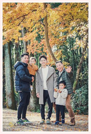 家族・親族の集合写真 男性チーム