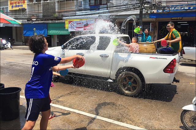 Songkran Fun in Chumphon Thailand