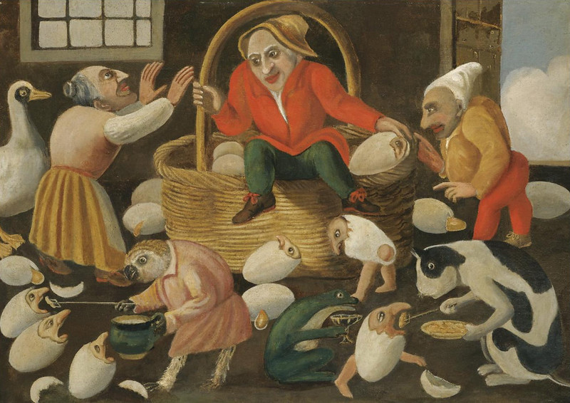 The Master of the Fertility of the Egg - Animal and Stylized Figure Scene 7, 17th Century