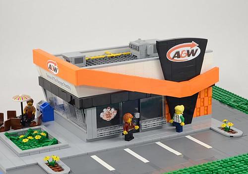 Lego A&W Restaurant