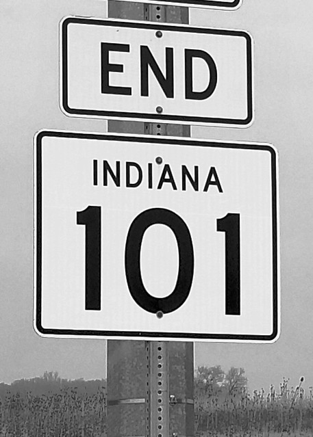 IN, Newville-IN 8 End IN 101 Sign