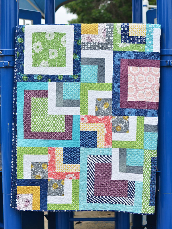 Stacked Squares Quilt Tutorial - Kitchen Table Quilting