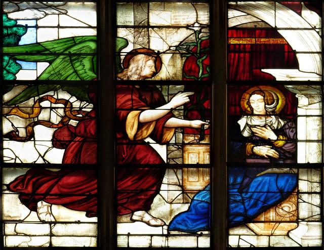Fri, 04/29/2016 - 10:44 - Detail 'The Annunciation' by Bertin Duval (1531) -  Alençon France 29/04/2016