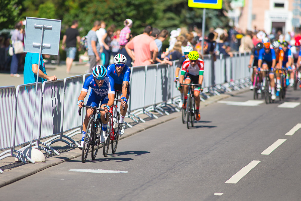 Minsk, Belarus - 23 June, 2019. Mens Peloton Road Race During The II European Games. Group Race for 180 km with Free Access For Spectators and Visitors of the Event, June 23, 2019, Minsk