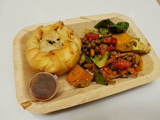 Creamy Mushroom Pie with Pesto Chickpea Salad from Vegerama Myer Centre