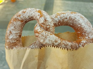 Cinnamon Sugar Pretzel from the markets