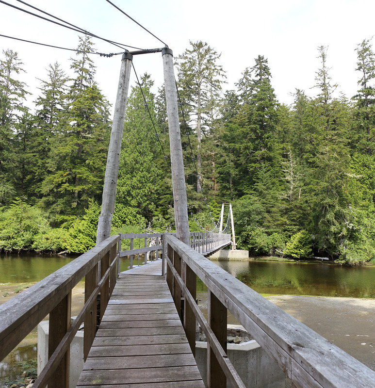 The Wooden Suspension Bridge over the Cheewhat River