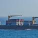Container Ship, VEGA SACHSEN -Bay of Gibraltar