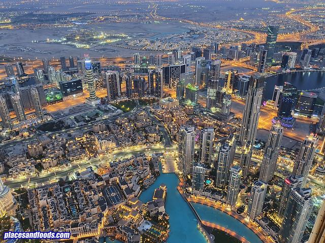 burj khalifa night view