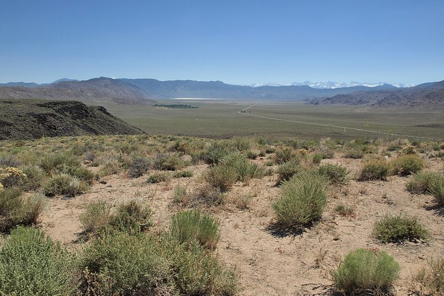 Deep Springs Valley, California, view from Gilbert Pass