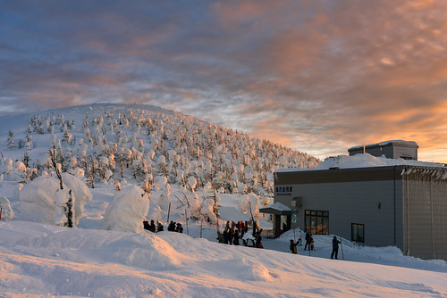japan yamagata zao zaoropeway forest winterseason snowview sunset sky frozentree 日本 山形縣 藏王山麓站 藏王山頂站 夕陽 樹冰