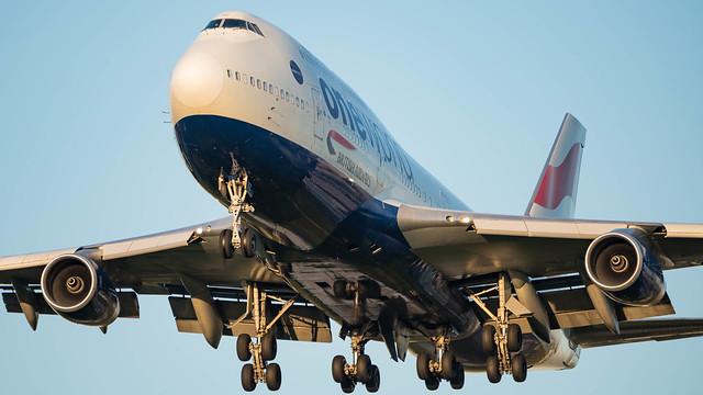 Boeing 747, G-CIVZ, British Airways.