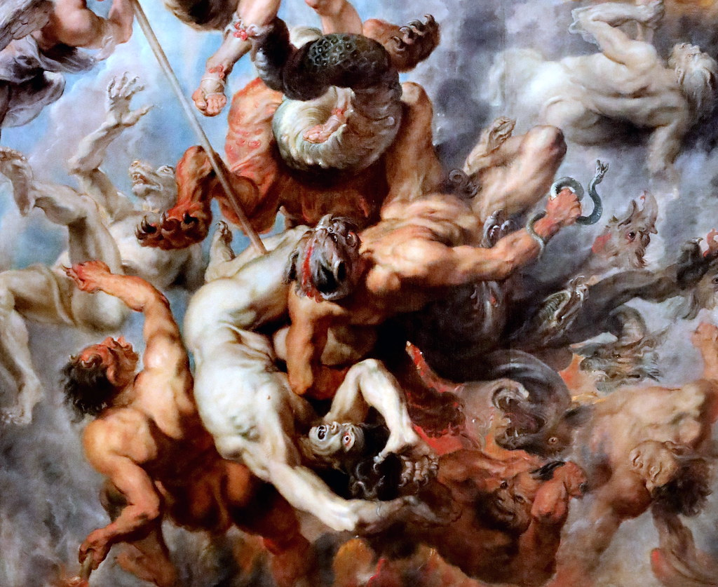 IMG_4017RT Pieter Paul Rubens 1577-1640 Anvers La chute des anges rebelles  The Fall of the Rebel Angels1622 Munich Alte Pinakothek
