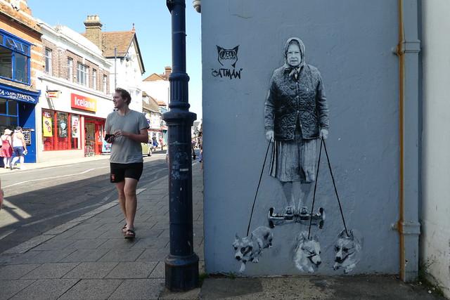 Catman street art, Whitstable