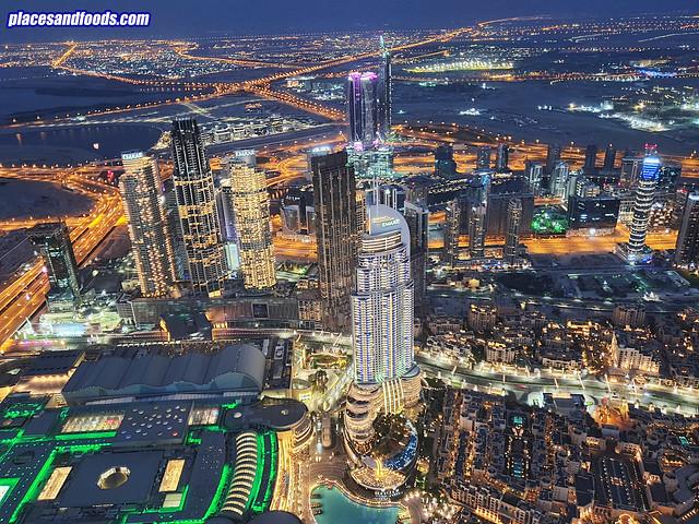 burj khalifa night scenery