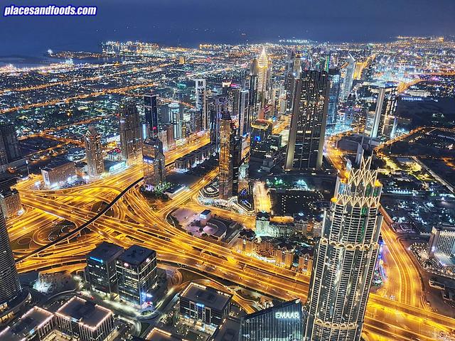 burj khalifa dubai night view