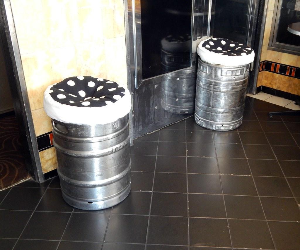 Beer Keg seats, Petersham Inn, Petersham, Sydney, NSW.