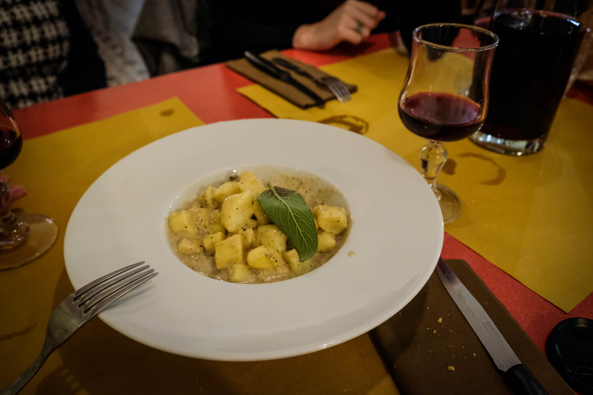 Truffle pasta at Braciere Malatesta Firenze