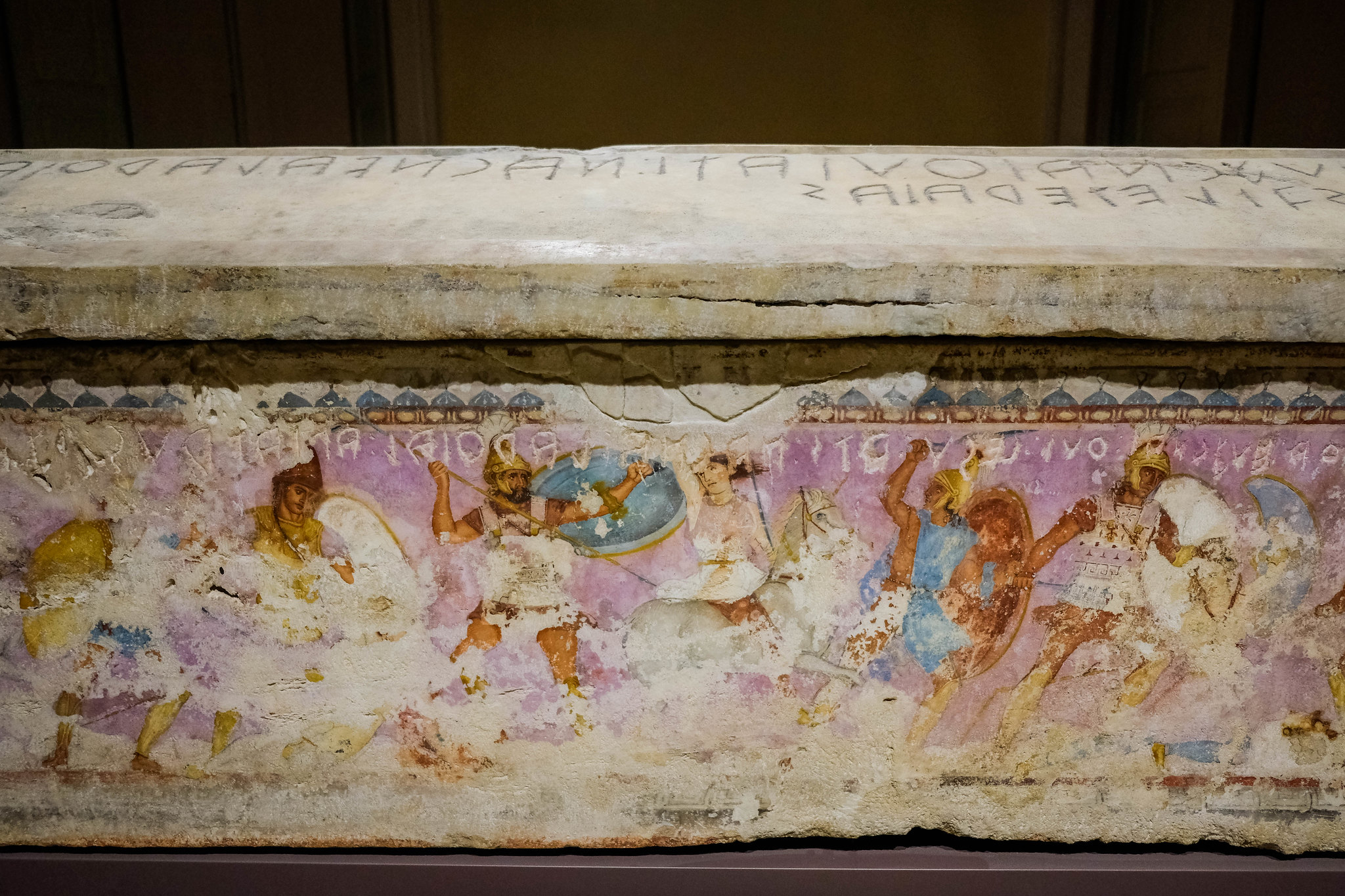 Beautiful painted sarcophagus!