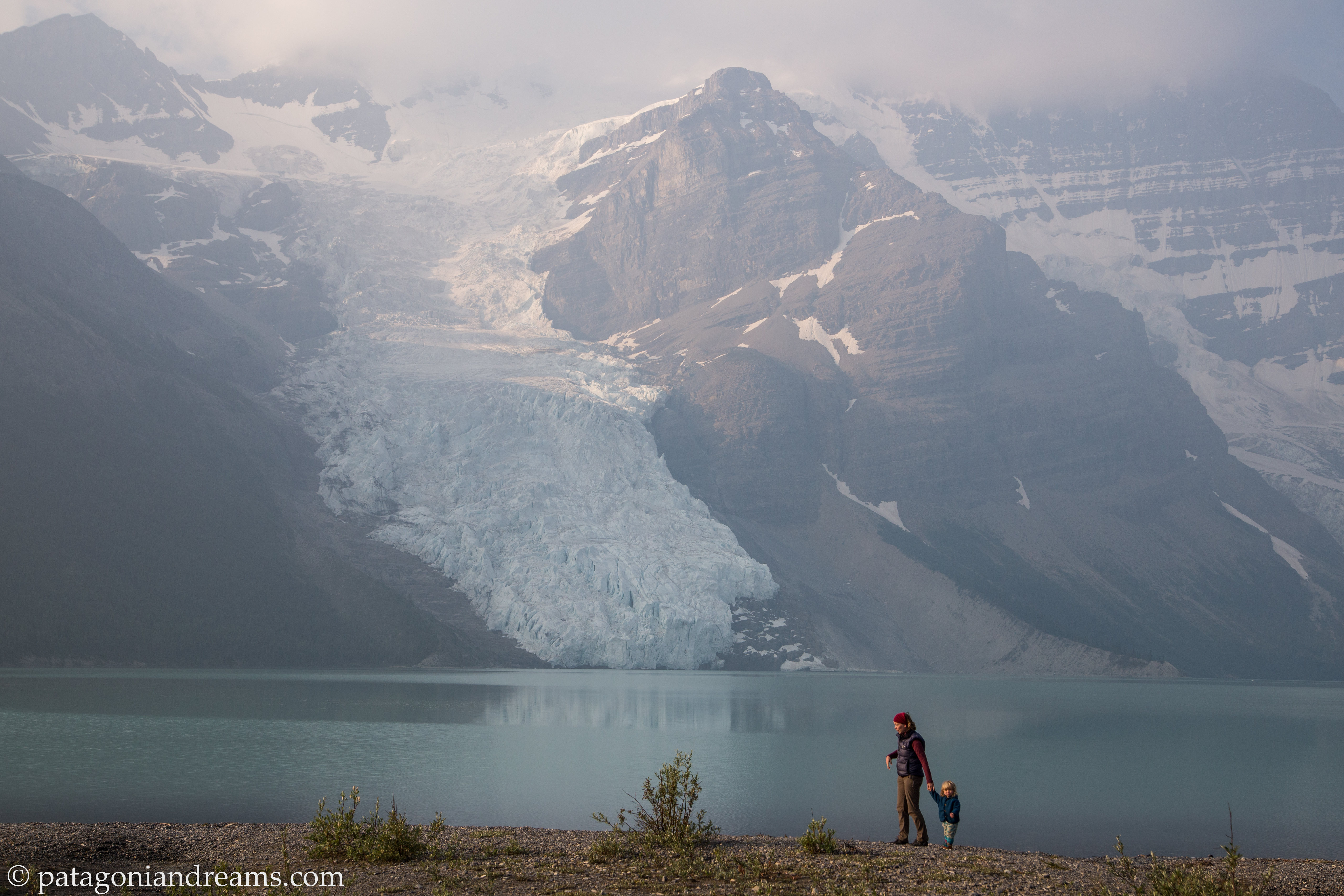 The Berg Lake Trail is a world-renowned backcountry hiking trail. Gaining just under 800 metres in 23 kilometres, the trail traverses three biogeoclimatic zones in the Mount Robson Provincial Park, British Columbia, Canada.
