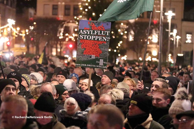 28.12.2019 Aue: Rassistische Kundgebung auf dem Altmarkt