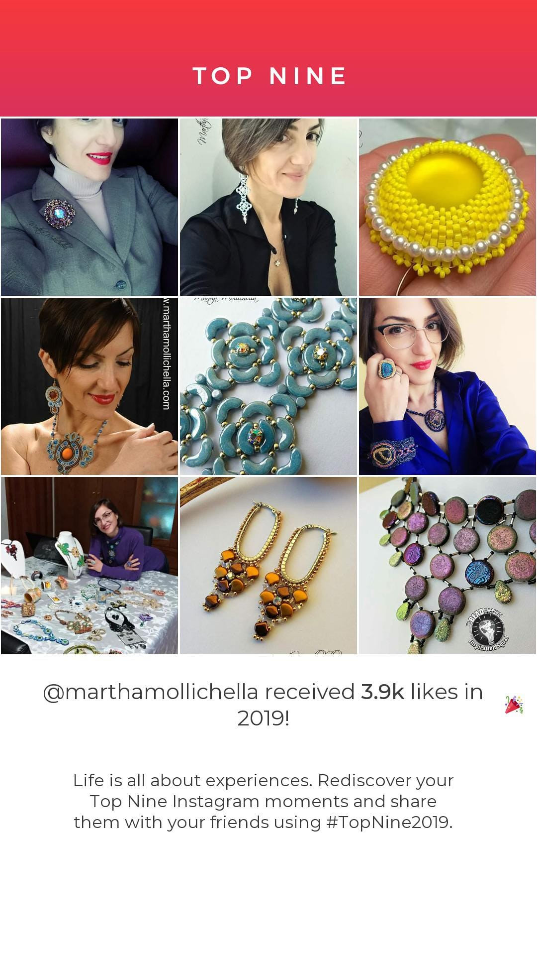 Top nine Instagram Martha Mollichella