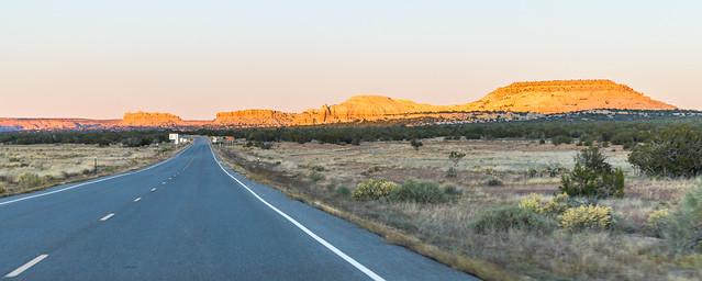 Road to the Acoma Pueblo