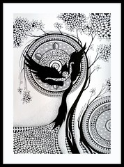 Zentangle inspired art & collage
