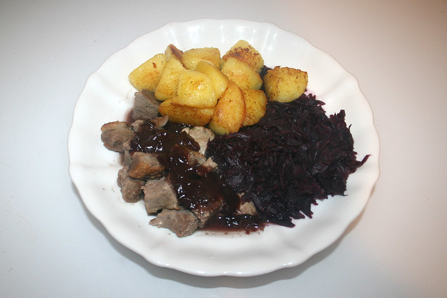 Duck breast in red wine sauce - Leftovers / Entenbrust in Rotweinsauce - Reste
